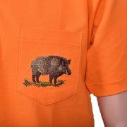 Тениска тип лакоста с бродерия глиган
