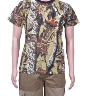 Камуфлажна тениска, кафява гора