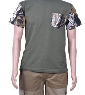 Тениска с камуфлажни ръкави