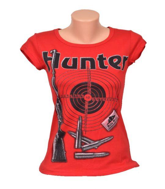 Дамска тениска с щампа HUNTER