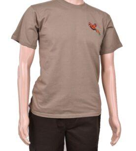 Тениска с бродерия фазан