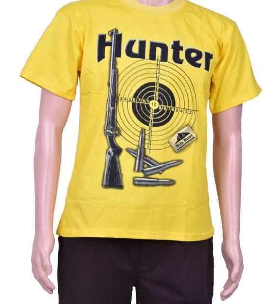 Тениска с щампа жълта