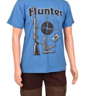 Тениска с щампа, синя