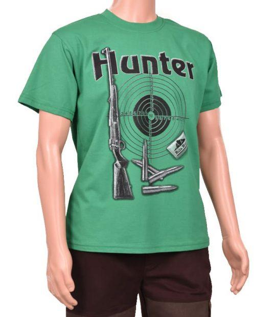 Тениска с щампа зелена