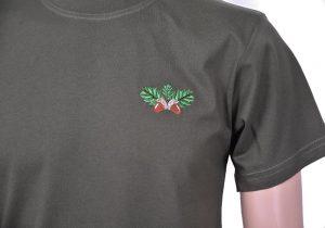Тениска с бродерия жълъд