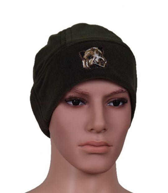 шапка полар зелена