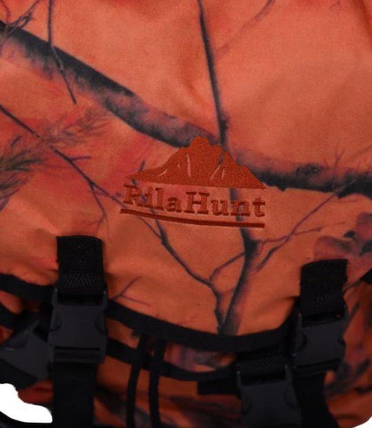 Раница със столче, оранжев камуфлаж