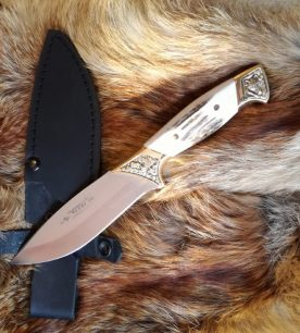 Нож Vandi – ART, вълк и рог